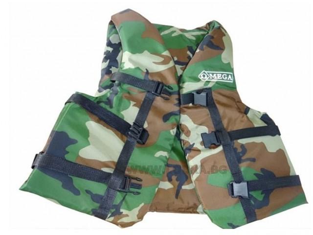 OMEGA - Спасителна жилетка за хора с тегло 110-130 кг, Камуфлажен цвят