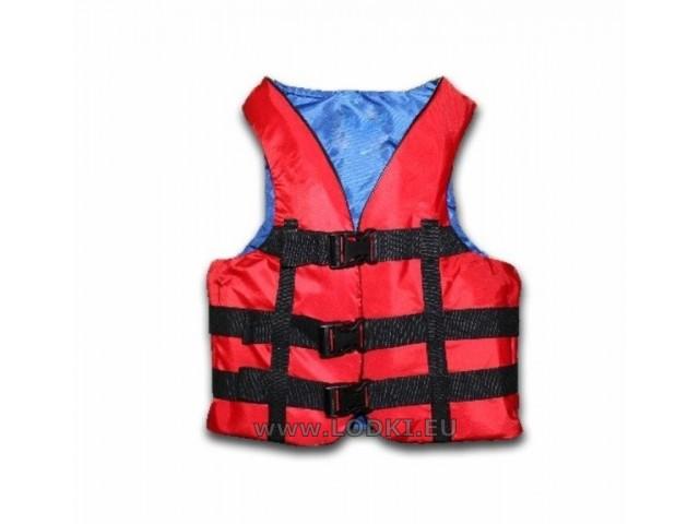 BORIKA - Спасителна жилетка за хора с тегло 50-70 кг, Цвят: Червен