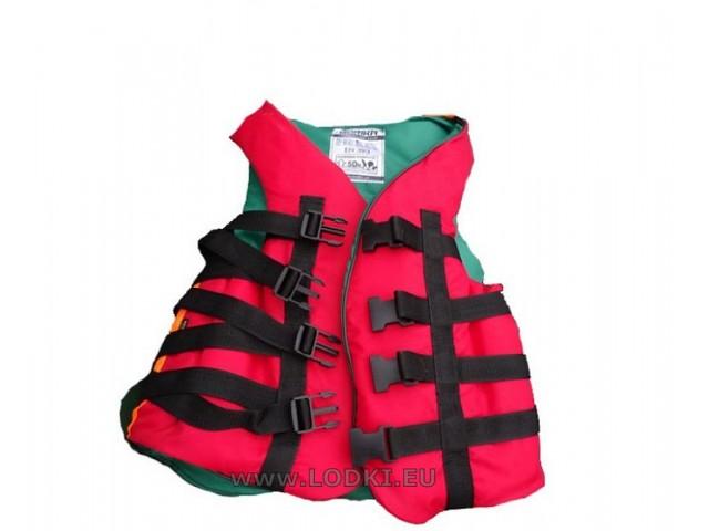 BORIKA - Спасителна жилетка за хора с тегло 90-110 кг, Цвят: Червен