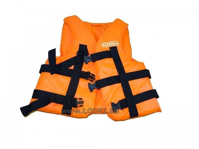 OMEGA - Спасителна жилетка за хора с тегло 120-150 кг, Цвят: Оранжев