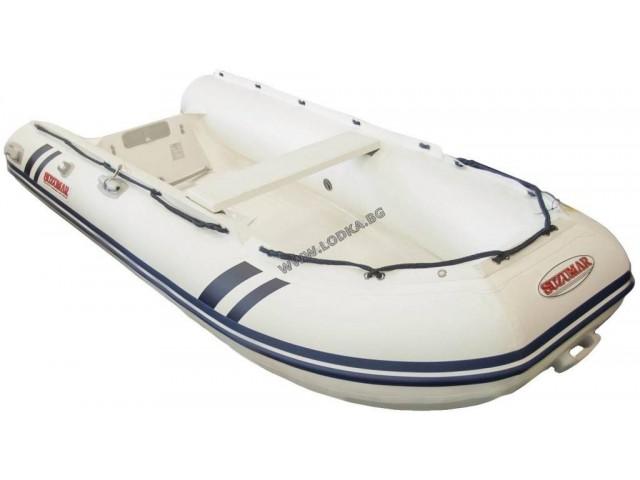 """SUZUMAR DS 350 VIB - Надуваема ПЕТМЕСТНА моторна рибарска лодка с НАДУВАЕМО дъно и НАДУВАЕМ КИЛ """"SUZUMAR DS 350 VIB"""" с размери 356x172 cm, Товароносимост: 900 кг, Цвят: светло сива"""