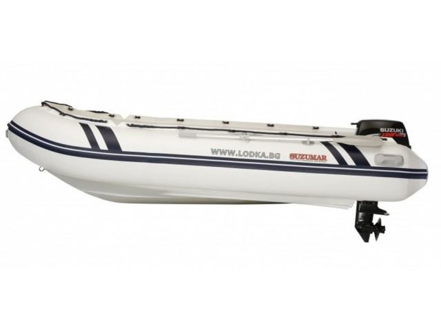 """SUZUMAR DS 350 RIB - Надуваема ЧЕТИРИМЕСТНА моторна рибарска RIB лодка """"SUZUMAR DS 350 RIB"""" с размери 348x176 cm, Товароносимост: 600 кг, Цвят: светло сива"""