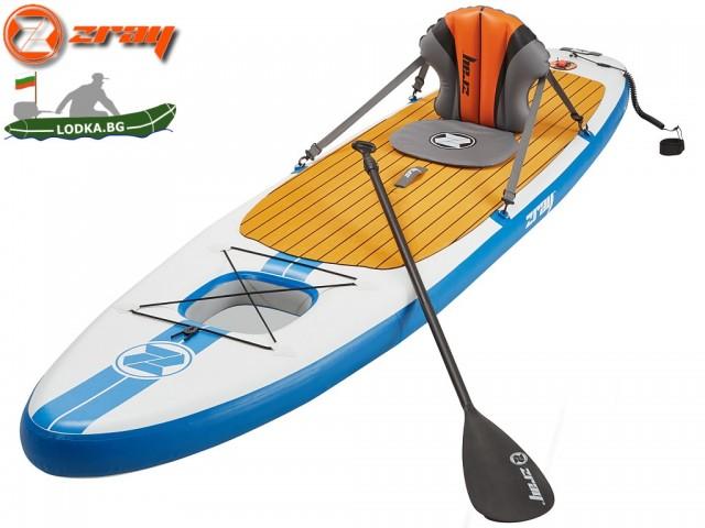 "ZRAY E11 - Надуваем SUP борд (Stand Up Paddle board) ""All Around Multiboard E11"", Размери: 335x81x15 cm, Със седалка, гребло и помпа, Товароносимост: 150 кг"